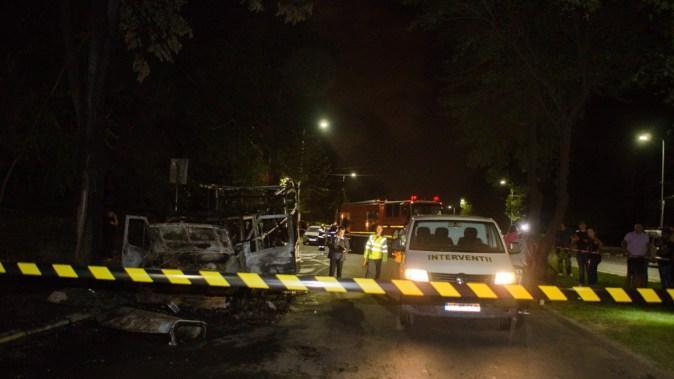 Zona tragediei a fost izolată de către polițiști. FOTO Catalin Schipor