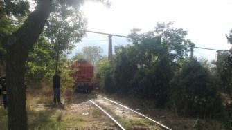 O locomotivă a luat foc în mers în Portul Constanta.