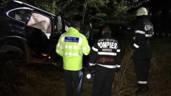 Pompierii si polițiștii au intervenit la locul accidentului