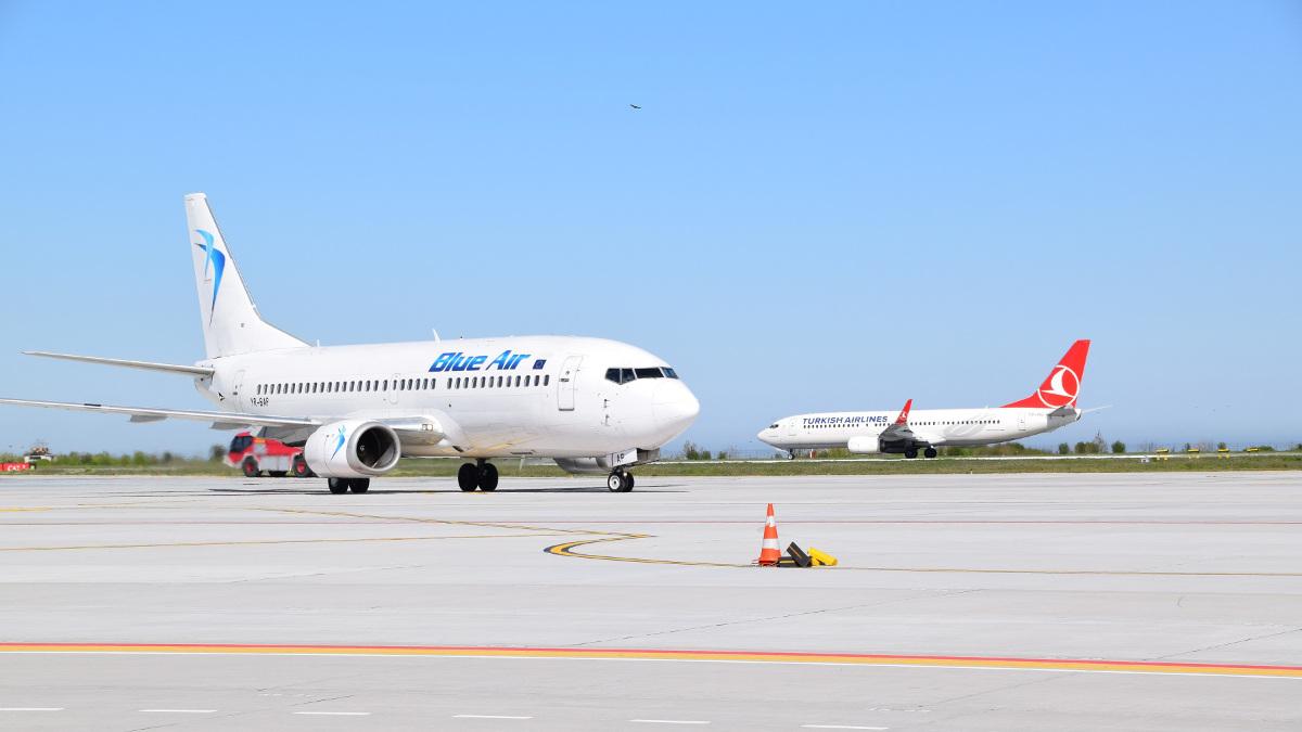 Aeronave pe pista aerport Mihail Kogălniceanu