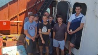 Marinarii și-au primit o parte din bani si vor pleca acasa. FOTO Sindicatul Liber al Navigatorilor