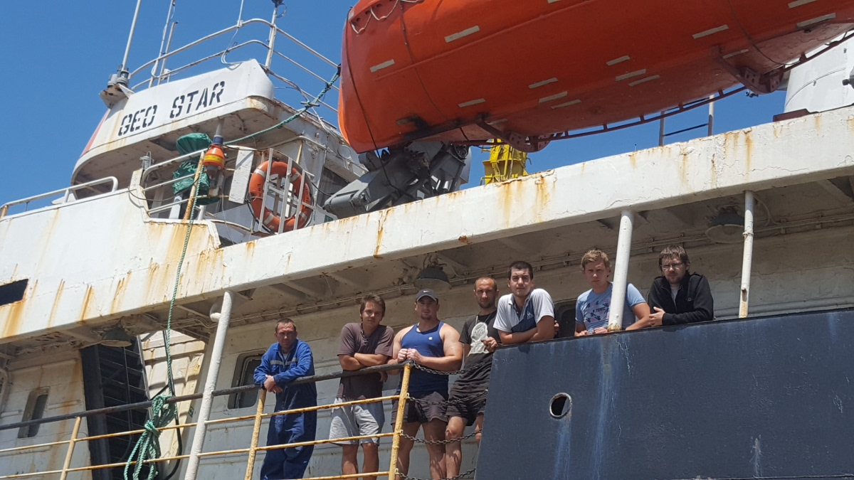 Marinarii de pe nava Geo Star (2)