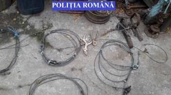 De la locuințele braconierilor au fost ridicate mai multe probe incrimantorii. FOTO IPJ Constanța