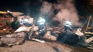 Pompierii au reușit în aproximativ 30 de minute să stingă flăcările. FOTO ISU Dobrogea
