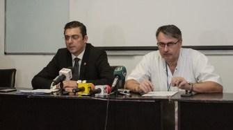 Marius Horia Tutuianu si dr. Catalin Grasa au dat detalii despre achiziția făcută și despre situația bolnavilor de cancer. FOTO Cătălin Schipor