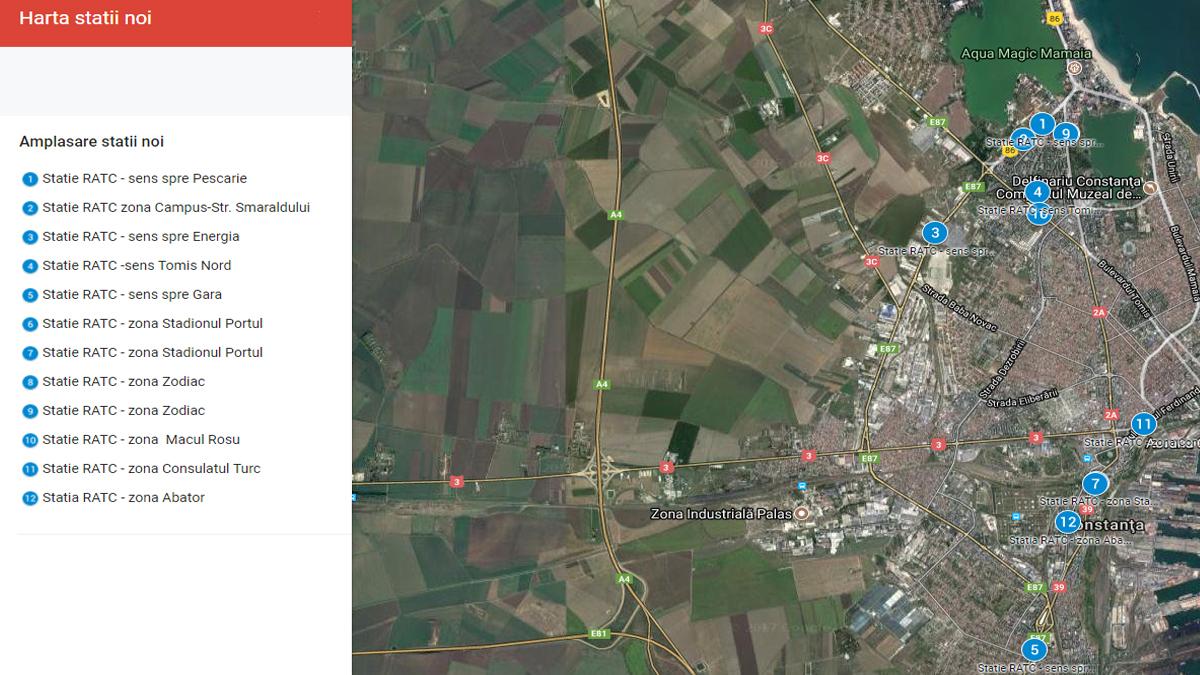 Harta statii noi RATC