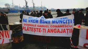 Angajți și fost angajați au protestat iar în fața GSP. FOTO CTnew.ro
