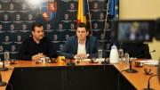 Valentin Vrabie și Bogdan Moșescu. FOTO Primăria Medgidia