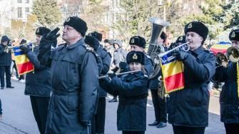Fanfara Forțelor Navale au intonat Hora Unirii. FOTO Cătălin Schipor
