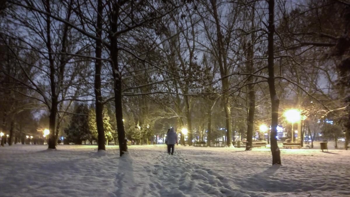 Iarna in Constanta, ninsoare