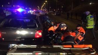 Victimele accidentului au fost preluate de echipaje medicale ale SAJ. FOTO IPJ Constanța