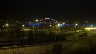 Primăria Cernavodă a finanțat reabilitarea și iluminarea arhitectonică a podului Sf. Maria. FOTO CTnews.ro