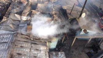 Pompierii au evaluat situația de la înălțime. FOTO ISU Dobrogea