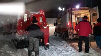 Pacientul a fost predat autorităților bulgare pentru a-l duce la spital. FOTO ISU Dobrogea