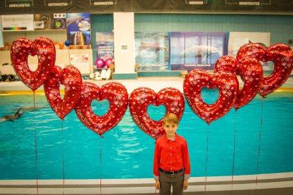 Delfini și inimioare de o zi specială. FOTO Delfinariul Constanța