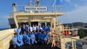 Patru membrii ai echipajului navei Maersk Honam sunt dați dispăruți FOTO SLN