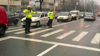 Polițiștii au ajuns la locul accidentului și au demarat cercetările. FOTO IPJ Constanța