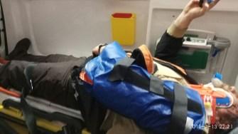 Victimele au fost tranbsportate la Spitalul Județean. FOTO SAJ Constanța