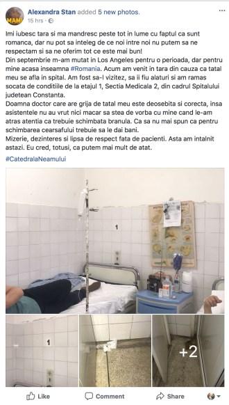 Alexandra Stan, despre Spitalul de Urgență Constanța