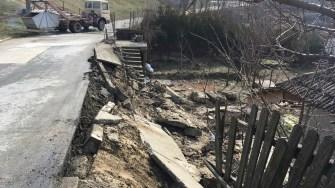 Străzi distruse de zăpezi la Cernavodă. FOTO CTnews.ro