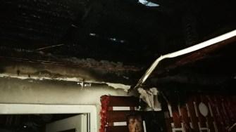 Incendiu pornit de la o lumânare de Paști. FOTO ISU Dobrogea