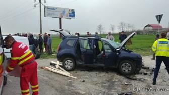 Accident grav pe DN3, la ieșire din Constanța. FOTO ISU Dobrogea