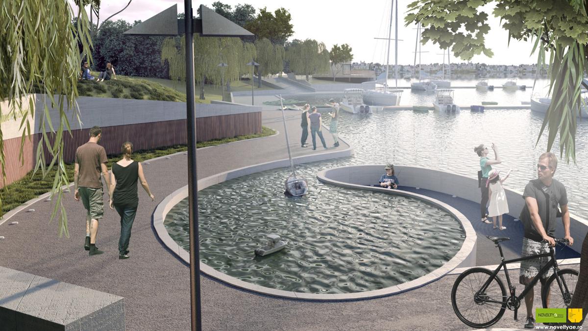 Proiectul pentru un nou parc în orașul Ovidiu. FOTO Primăria Ovidiu