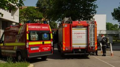 Pompierii ISU Dobrogea și cadrele medicale ale SAJ au intervenit. FOTO Cătălin SCHIPOR