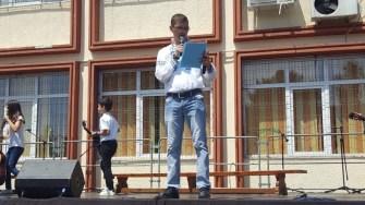 Profesorul Denys Ciorogaru, directorul Școlii nr. 29 a avut și rolul MC pe lângă cel de gazdă