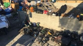 La percheziții au fost găsite mai multe bunuri susceptibile a fi furate. FOTO IPJ Constanța