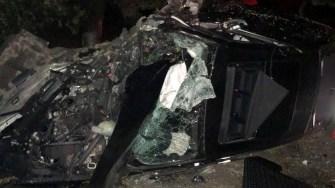 În urma accidentului, șoferul a scăpat cu răni ușoare. FOTO IPJ Constanța