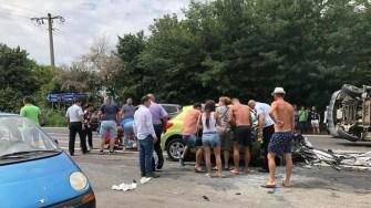 Accident rutier la Costinești. FOTO IPJ Constanța