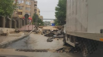 Inundații la Cernavodă. FOTO Eduard Delcă