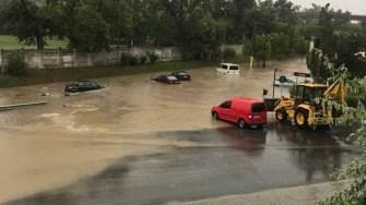 Inundații la Cernavodă. FOTO Gânditorul Cernavodean