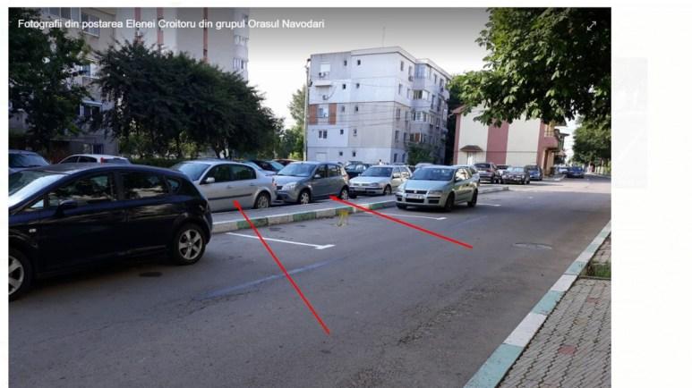 Primăria Năvodari a făcut locuri de parcare chiar pe stradă și fără avize. FOTO CTnews.ro