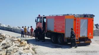 Pompierii și scafandrii ISU Dobrogea au recuperat trupul neînsuflețit. FOTO ISU Dobrogea