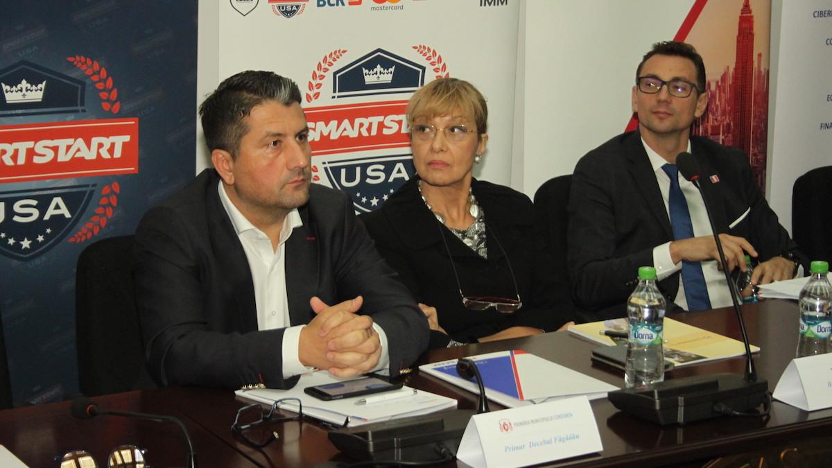 "Primarul Decebal Făgădău la Conferința ""Smart Start USA"". FOTO CTnews.ro"