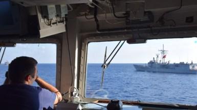 "Exercițiu militar la bordul fregatei ""Regele Ferdinand"". FOTO MAPN / Mihai Egorov"