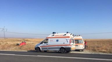 La locul accidentului au intervenit și echipajele SAJ Constanța. FOTO IPJ Constanța