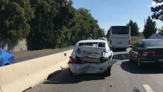 Trei mașini au fost implicate într-o coliziune. FOTO IPJ Constanța