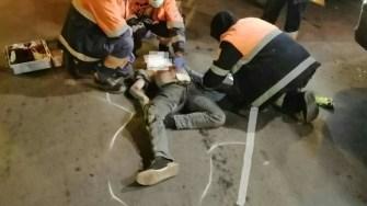 Victima a primit îngrijiri la fața locului de la personalul medical SAJ. FOTO IPJ Constanța