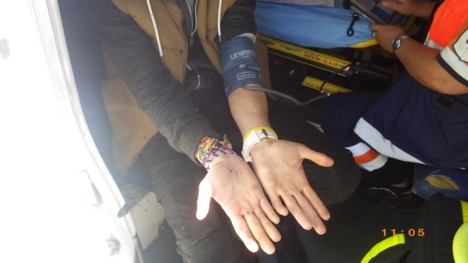 Tânărul suspect a fost percheziționat de către polițiștii locali. FOTO DGPL Constanța