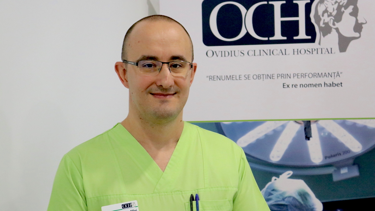 dr. Mihai Hrițcu, medic specialist de chirurgie generală la Ovidius Clinical Hospital. FOTO Adrian Boioglu / CTnews.ro