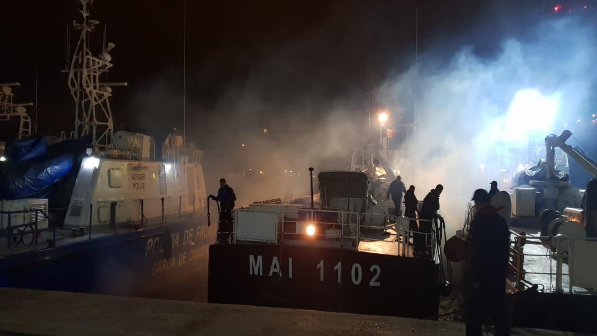Nava MAI 1102 s-a întors acasă. FOTO Garda de Coastă