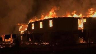 Incendiu puternic la Cernavodă. FOTO Alina Andreea
