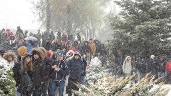 Inaugurarea grupului statuar Ovidiu din orașul Ovidiu. FOTO CTNews.ro