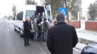 Microbuzul școlar din Albești. FOTO CTnews.ro