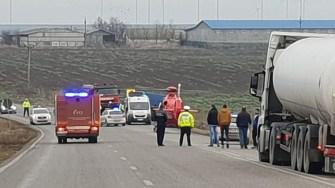 Elicopterul SMURD a intervenit la locul producerii accidentului. FOTO IPJ Constanța