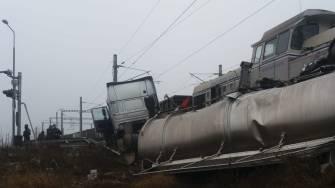 Accident feroviar în Dana 102 a Portului Constanța. FOTO ISU Dobrogea