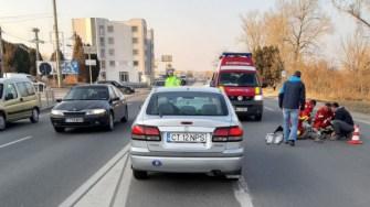 O femeie neidentificată a fost accidentată grav. FOTO IPJ Constanța
